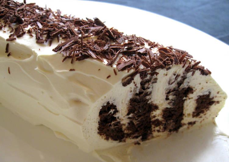 Choc Ripple Log Cake