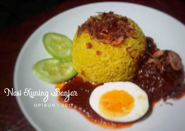 Nasi Kuning Banjar (menu sarapan #1)