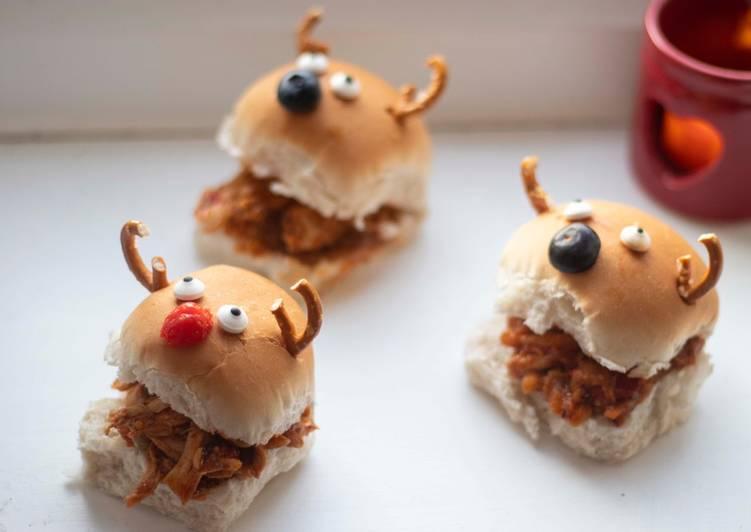Easiest Way to Prepare Super Quick Homemade Reindeer sloppy Joe slider