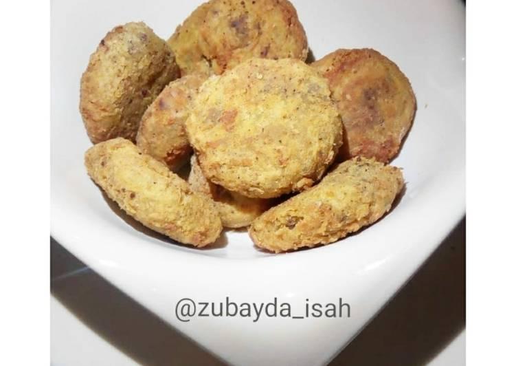Sweet potato - mince meat Patties