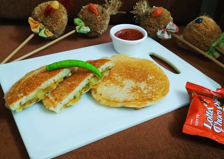 Turn to Food to Boost Your Mood Stuffed Semolina Pancake