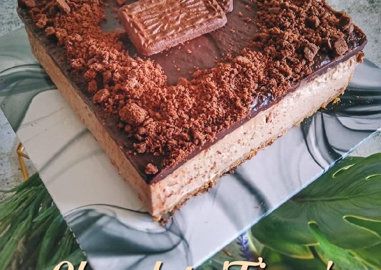 Chocolate 'Tiger' Biscoff Cheesecake