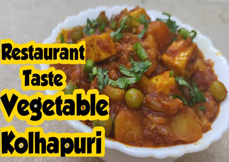 Vegetable Kolhapuri   Mixed Vegetable Curry