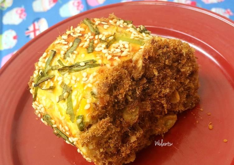 Beef Floss Rolling Bun/roti gulung abon