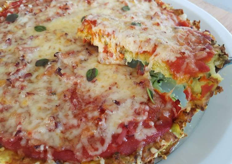 Pizza pâte à la courgette