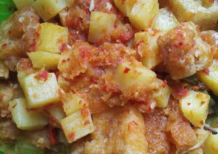 Sambal goreng kentang,krecek