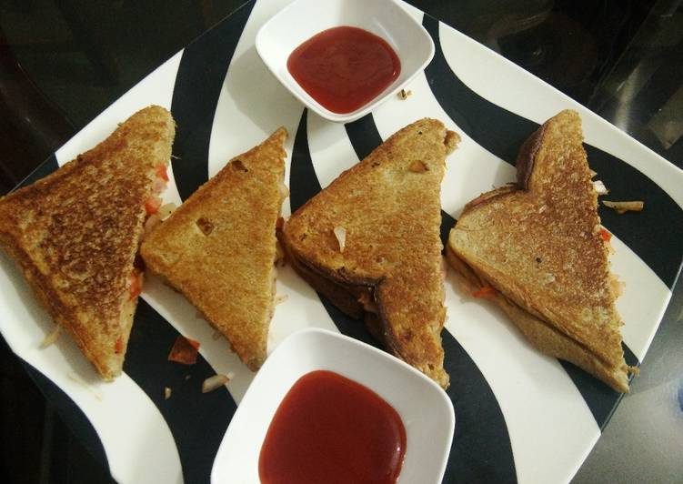 Recipe: Appetizing Healthy Paneer Pumpkin Tava toast