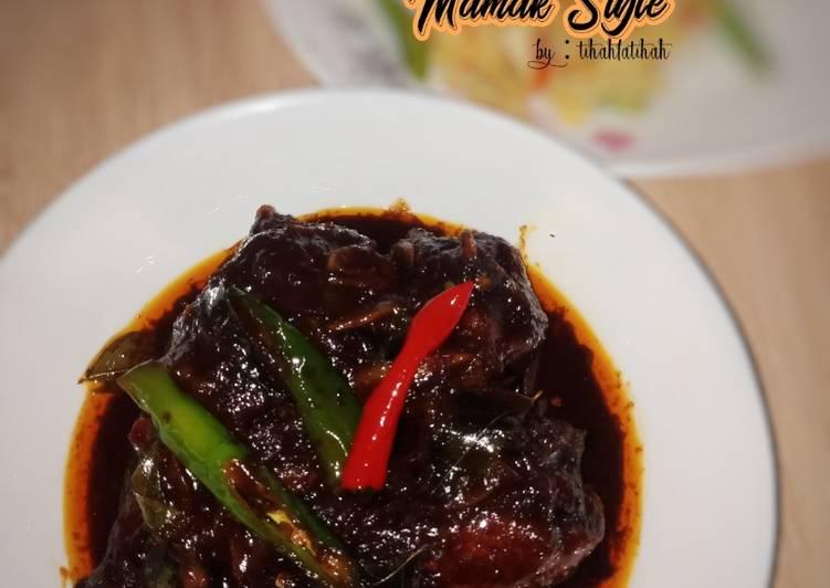 Ayam Kicap Mamak Style
