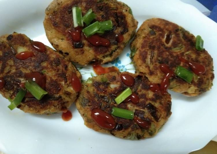 Spring Onion and Potato Cutlets - Laurie G Edwards