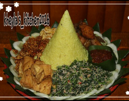Nasi Kuning Magicom / Nasi Tumpeng Komplit Murah Mudah Istimewa