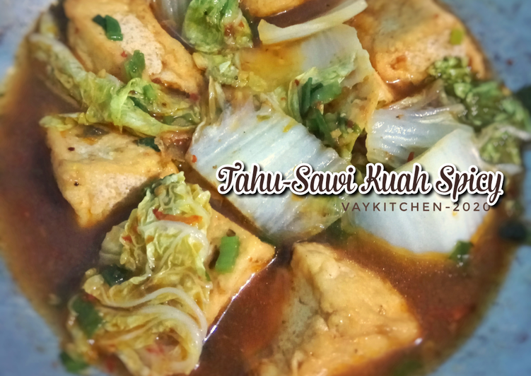 Tahu Sawi kuah spicy