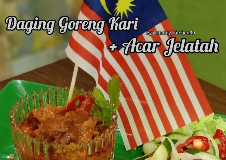 Daging Goreng Kari + Acar Jelatah