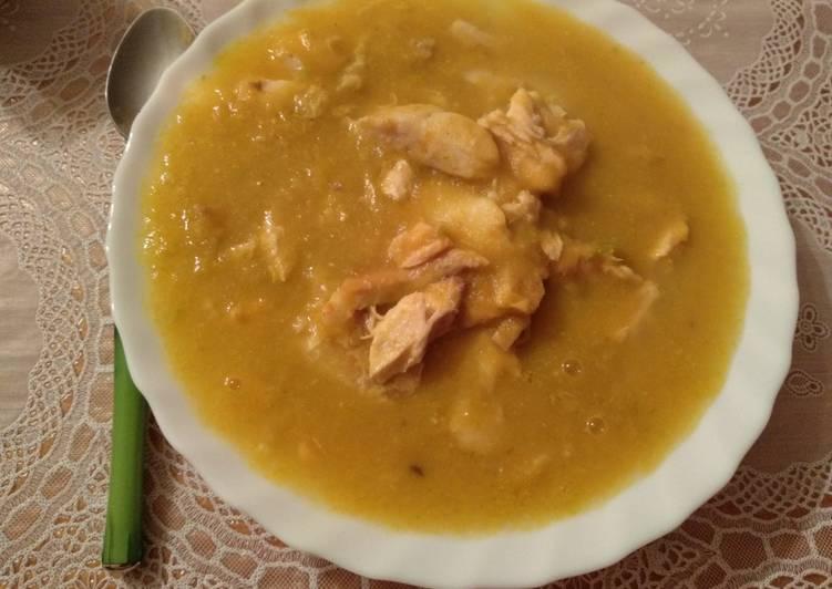 Sopa de merluza con verduras
