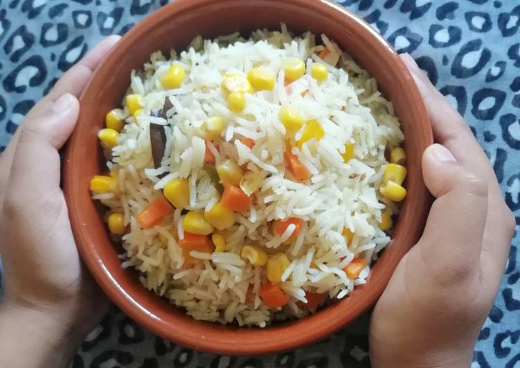 How to Make Most Popular Sweet Corn pulao