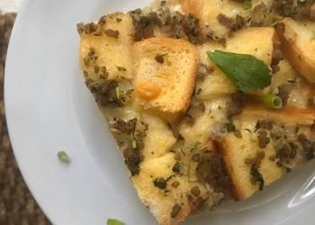 Easiest Way to Make Yummy Savory Bread Pudding