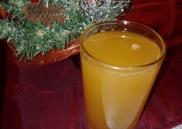 Jus de pomme/orange chaud miel-cannelle