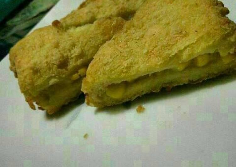 Roti goreng isi jagung manis
