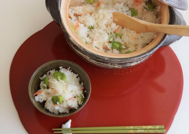 How to Make Ultimate Broad Bean & Sakura Shrimp Rice