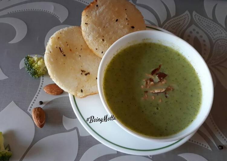 Almonds Broccoli Soup