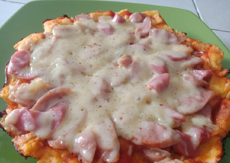 Pizza roti tawar anti gagal