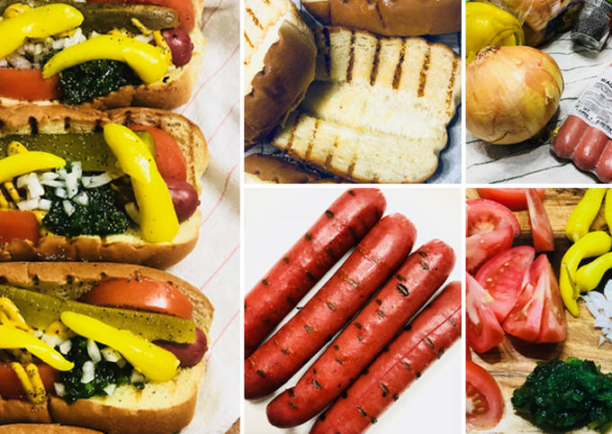 Chicago Style Wagyu Beef Hot Dogs