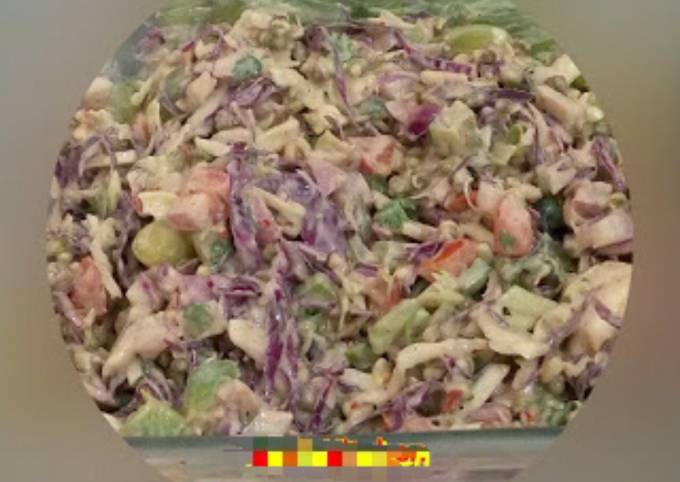 Healthy salad with Hung Curd Dressing