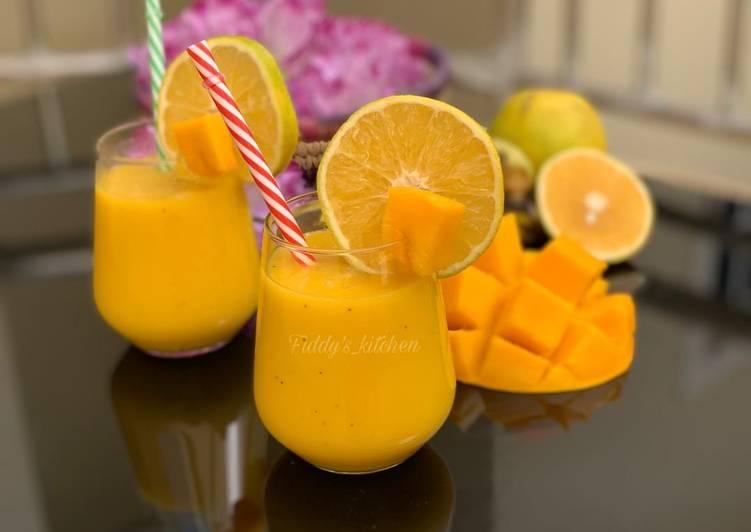 Orange Mango Smoothie 🍊🍹