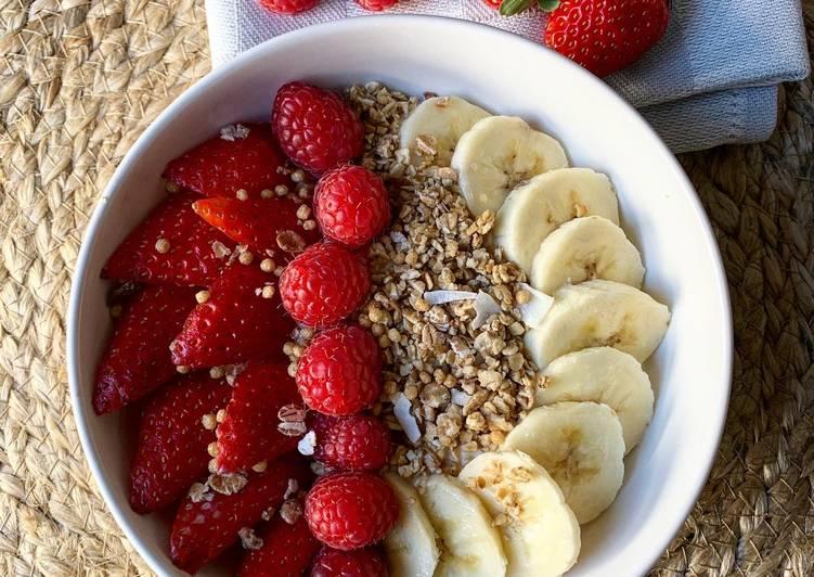 recette Muesli bowl fruits rouges Le plus simple