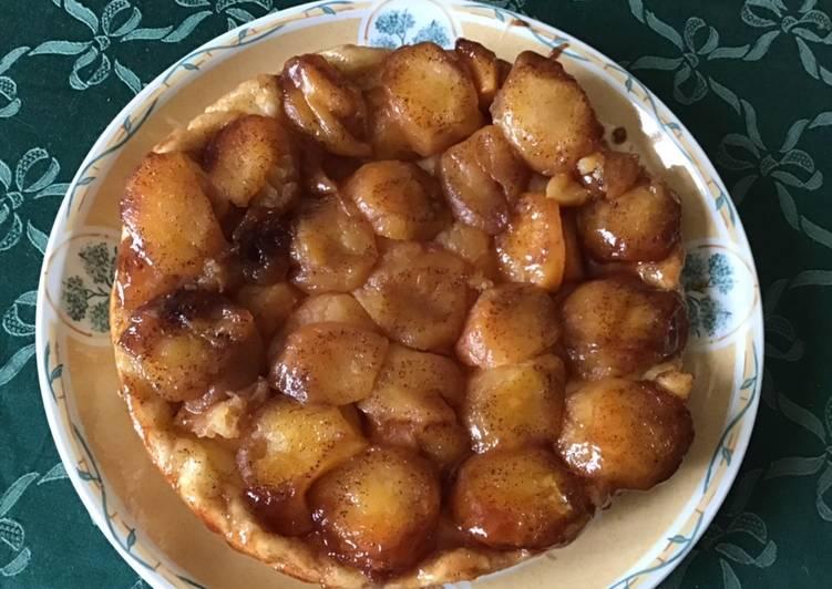 Comment faire Préparer Savoureux Tarte rustique façon tatin pommes cannelle