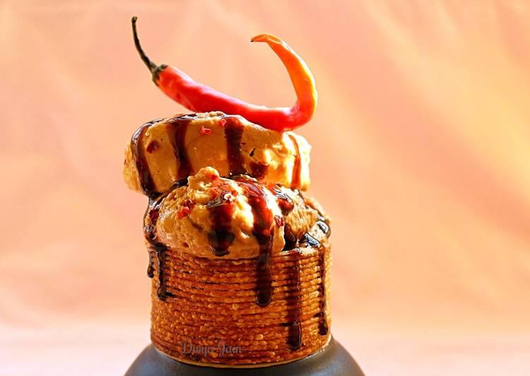 Spiced Belgian Chocolate Gelato in Spaghetti Cups