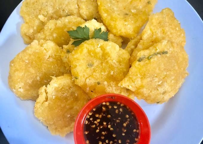 Cireng jagung untuk buka puasa