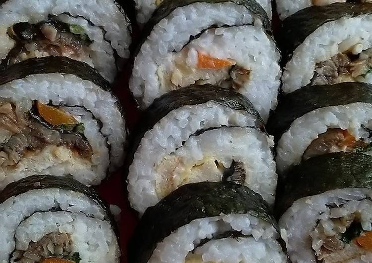 Kimbab isi belut (unagi)