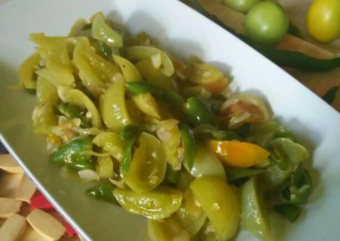 resep olahan tumis tomat hijau