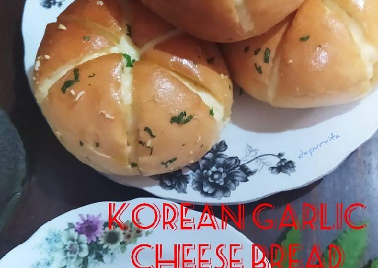 Korean Garlic Cheese Bread (versi ekonomis)
