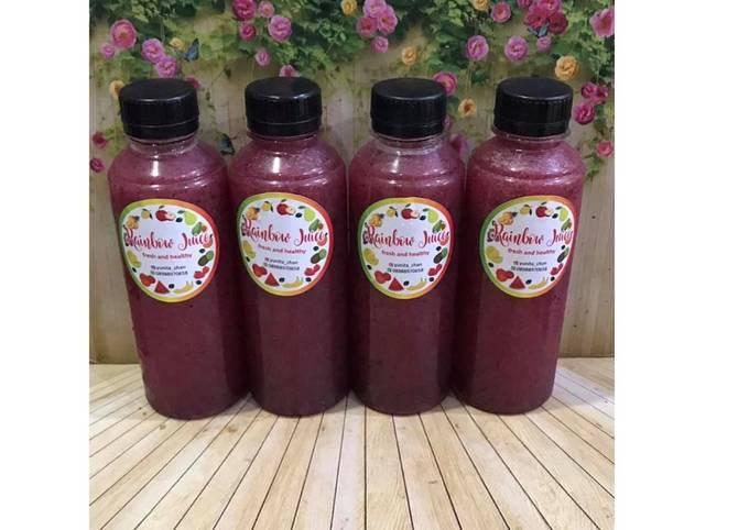 Diet Juice Cranberry Blueberry Jambu Kristal Pear Orange Melon