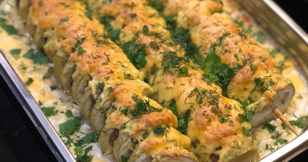 кабачок с фаршем фото рецепт желтым