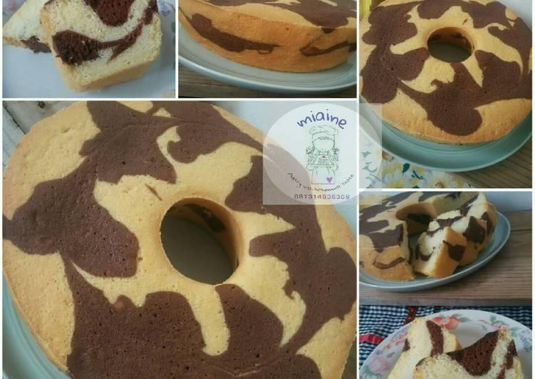 8 Langkah Resep Marmer Zebra Cake Putih Telur Yang Cepat