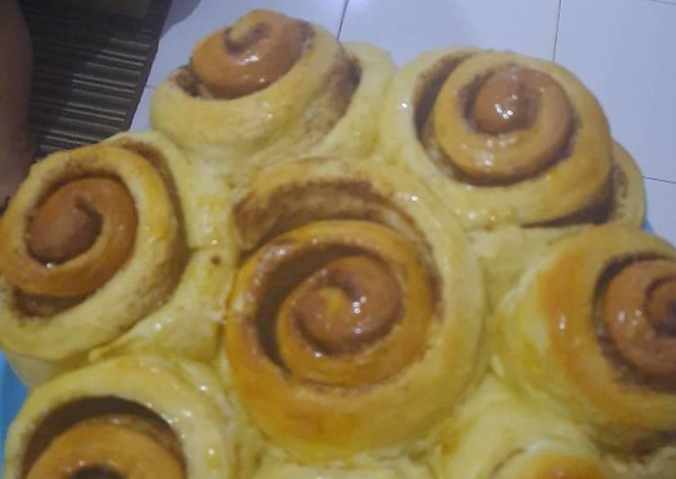 Cinnamon roll anti ribet😁 pake oven tangkring
