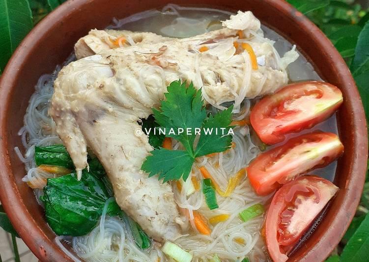Bihun Rebus Ayam Kampung