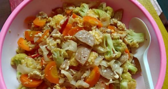 Resep Orak Arik Telur Sayuran Bakso 3 Piring Sehari