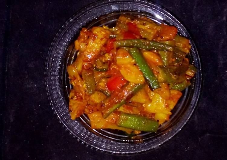 Spicy aloo bhindi