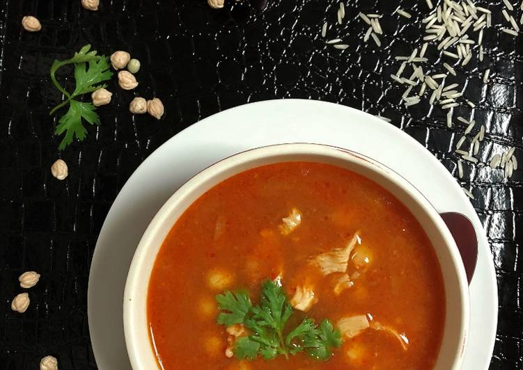 Moroccan Chickpea - Chicken Soup