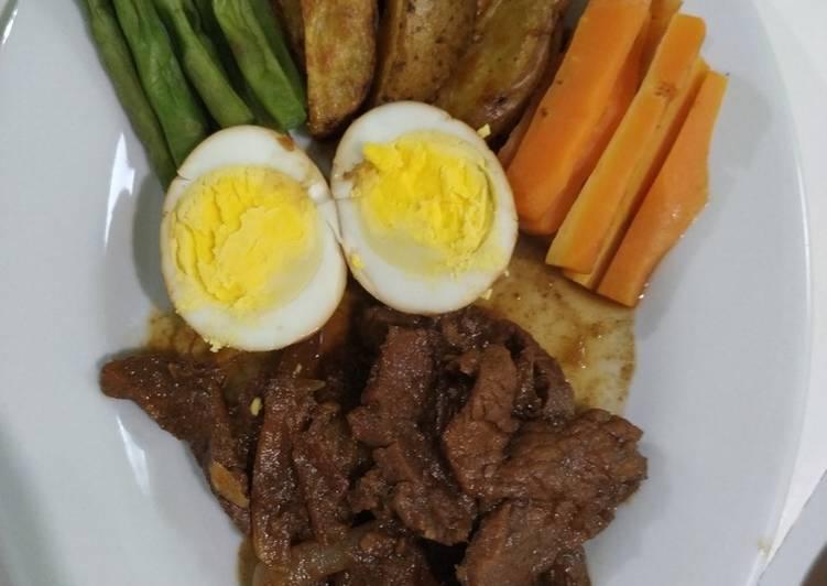 Diet versi 2 : Daging semur kentang roasted