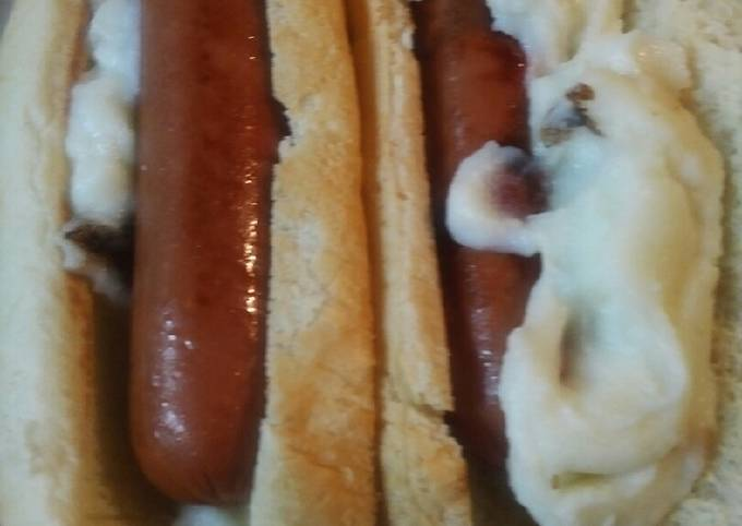 Rolled Hotdogs and Mashed Potatoes
