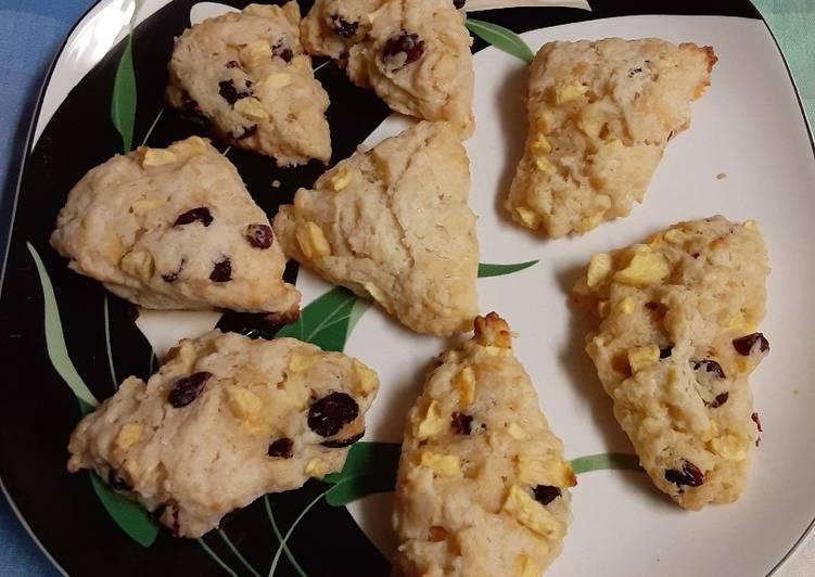 Apple craisin scones
