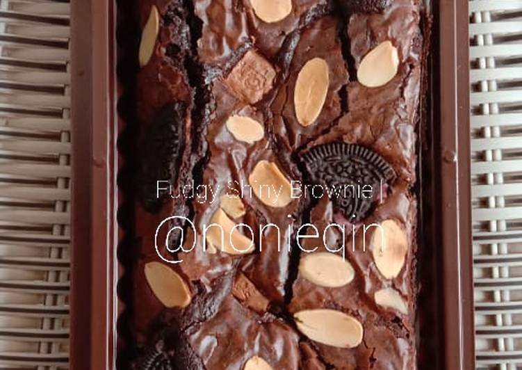 Fudgy Shiny Crust Brownie / Brownies Panggang
