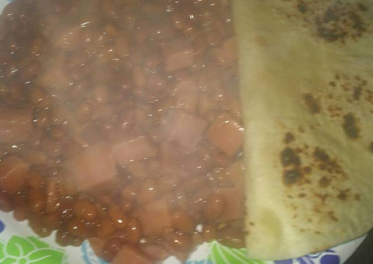 Bacon Spam and Beans