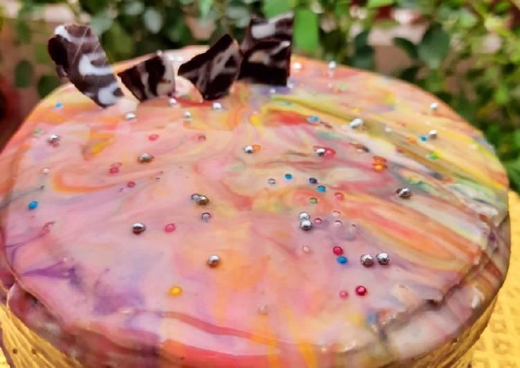 Recipe: Perfect Marble Glaze Cake