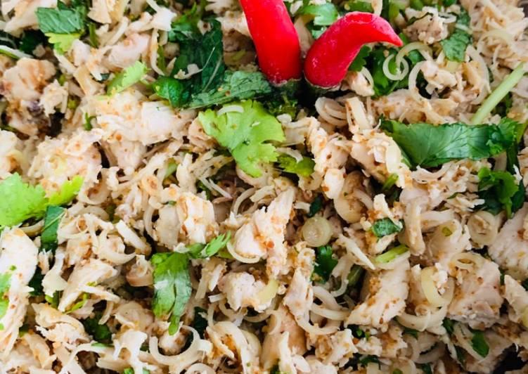 recette Laap kai : salade au poulet le délicieux