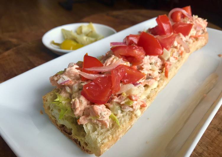 Recipe of Any-night-of-the-week Leftovers Makeover: Roast Salmon Salad Sandwich